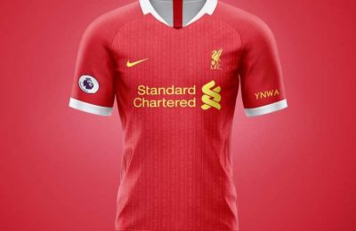 Who makes the Liverpool kit?